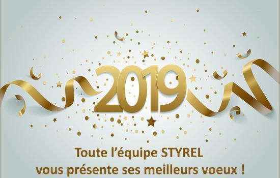 STYREL vous souhaite une bonne année 2019